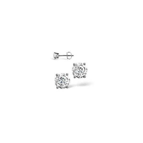 18KW Diamond Stud Earrings 0.66CT G/VS