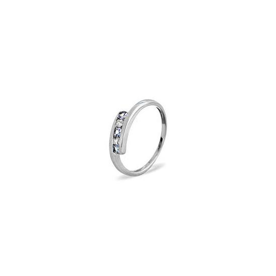 9KW DIAMOND TANZANITE RING 0.01CT
