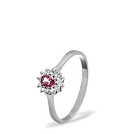 9kw Diamond Pink Sapphire Ring 0.06ct Reviews