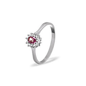 Photo of 9KW Diamond Pink Sapphire Ring 0.06CT Jewellery Woman