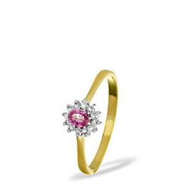 9KY DIAMOND PINK SAPPHIRE RING 0.06CT Reviews