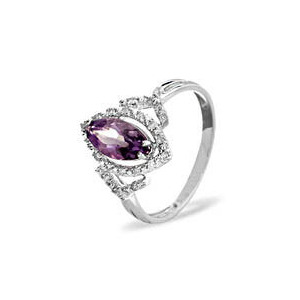 Photo of 9KW Diamond Amethyst Ring 0.14CT Jewellery Woman