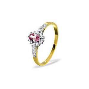 Photo of 9KY DIAMOND PINK SAPPHIRE RING 0.14CT Jewellery Woman