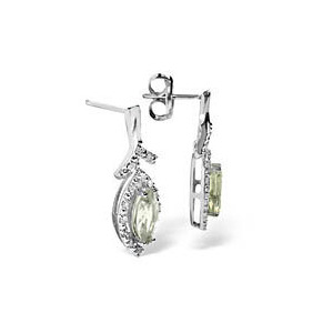Photo of 9KW Diamond Aqua Marine Earrings 0.14CT Jewellery Woman