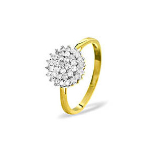 Photo of 9KY DIAMOND CLUSTER RING 0.50CT Jewellery Woman