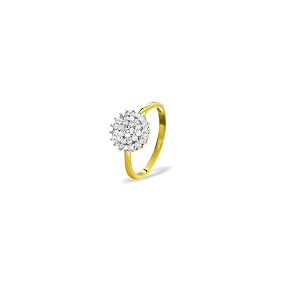 9KY DIAMOND CLUSTER RING 0.50CT