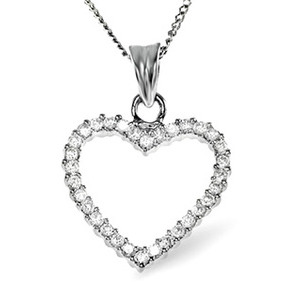 Photo of 18K WHITE GOLD DIAMOND PENDANT 0.36CT Jewellery Woman