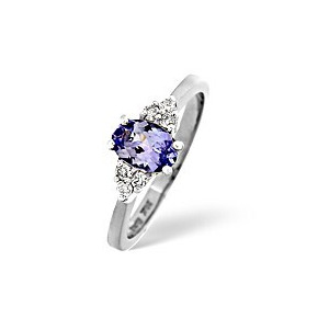 Photo of Tanzanite & 0.12CT Diamond Ring In White Gold Jewellery Woman