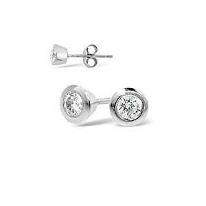 Photo of 18KW DIAMOND STUD EARRINGS 0.30CT g/VS Jewellery Woman