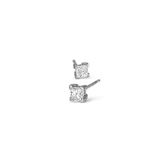 18KW Diamond Stud Earrings 0.50CT H/SI