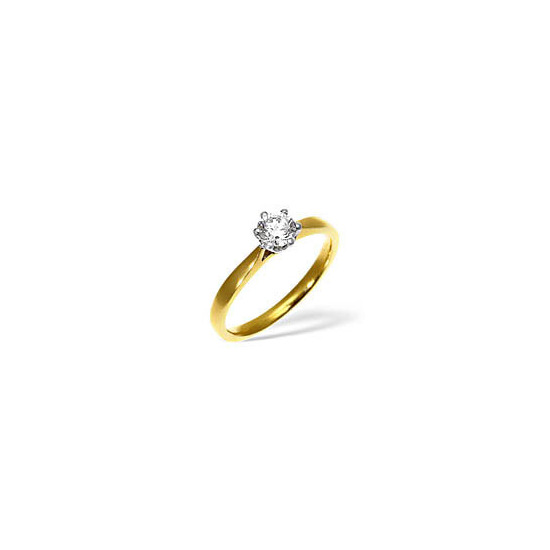 LOW SET CHLOE 18KY DIAMOND SOLITAIRE RING 0.25CT PK