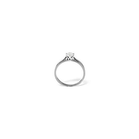 LOW SET CHLOE 18KW DIAMOND SOLITAIRE RING 0.25CT G/VS