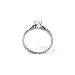 Photo of Low Set Chloe 18KW Diamond Solitaire Ring Jewellery Woman