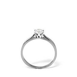 LOW SET CHLOE PLATINUM DIAMOND SOLITAIRE RING 1.00CT H/SI Reviews