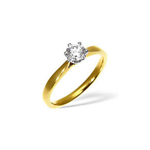 Photo of LOW SET CHLOE 18KY DIAMOND SOLITAIRE RING 0.33CT g/VS Jewellery Woman