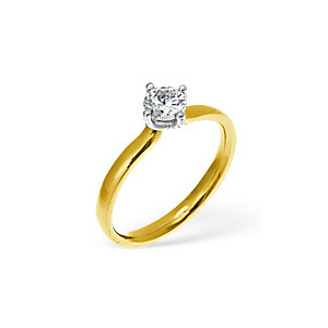Photo of The Diamond Store Lily 18KY Diamond Solitaire Ring 0.75CT PK Jewellery Woman