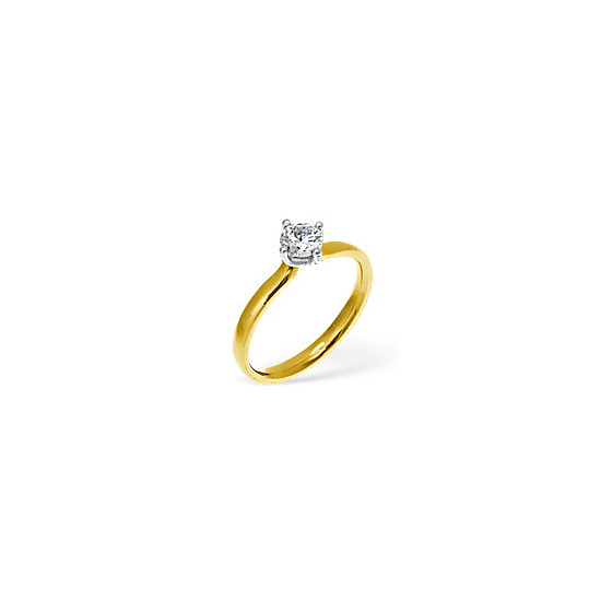 The Diamond Store Lily 18KY Diamond Solitaire Ring 0.75CT PK