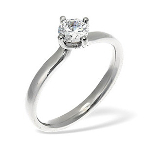 Photo of LILY 18KW DIAMOND SOLITAIRE RING 0.33CT PK Jewellery Woman