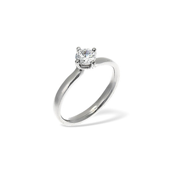 LILY 18KW DIAMOND SOLITAIRE RING 0.33CT PK