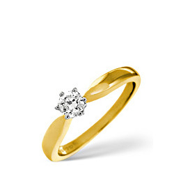 High Set Chloe 18k Diamond Solitaire Ring 0.33ct Reviews