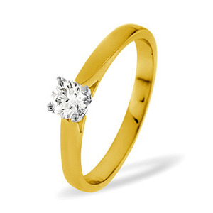Photo of PETRA 18KY DIAMOND SOLITAIRE RING 0.25CT PK Jewellery Woman
