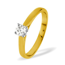 PETRA 18KY DIAMOND SOLITAIRE RING 0.33CT PK Reviews