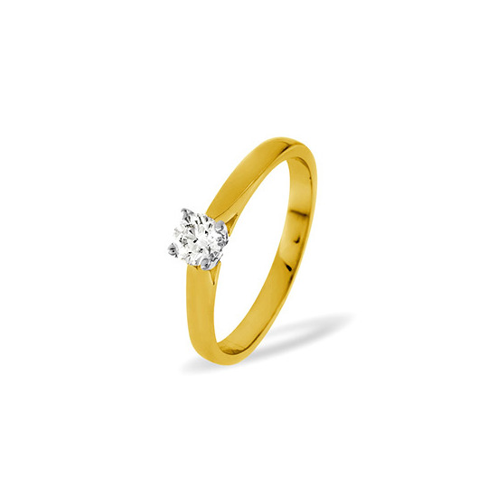 PETRA 18KY DIAMOND SOLITAIRE RING 0.33CT PK