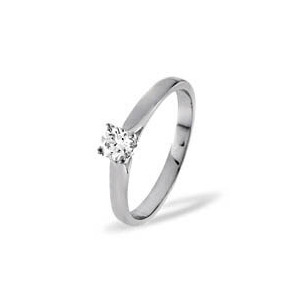 Photo of PETRA PLATINUM DIAMOND SOLITAIRE RING 0.25CT H/SI Jewellery Woman