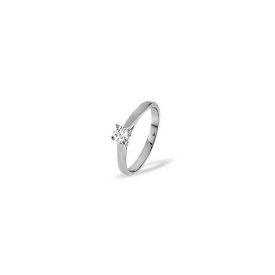 Petra 18KW Diamond Solitaire Ring 0.33CT G/VS