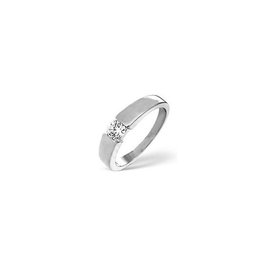 JESSICA 18KW DIAMOND SOLITAIRE RING 0.33CT H/SI