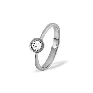 Photo of Emily 18KW Diamond Solitaire Ring 0.25CT Jewellery Woman