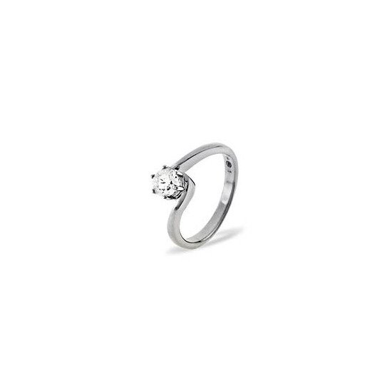 Leah 18KW Diamond Solitaire Ring 0.25CT H/SI