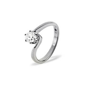 Photo of LEAH PLATINUM DIAMOND SOLITAIRE RING 0.25CT H/SI Jewellery Woman