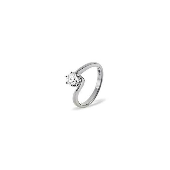 LEAH PLATINUM DIAMOND SOLITAIRE RING 0.25CT H/SI