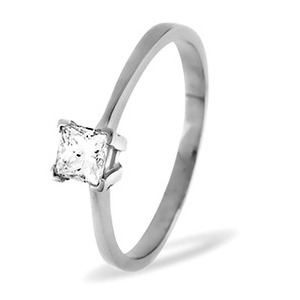 Photo of LAUREN PLATINUM DIAMOND SOLITAIRE RING 0.25CT g/VS Jewellery Woman