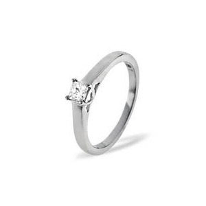 Photo of Lucy Platinum Diamond Solitaire Ring 0.33CT g Jewellery Men