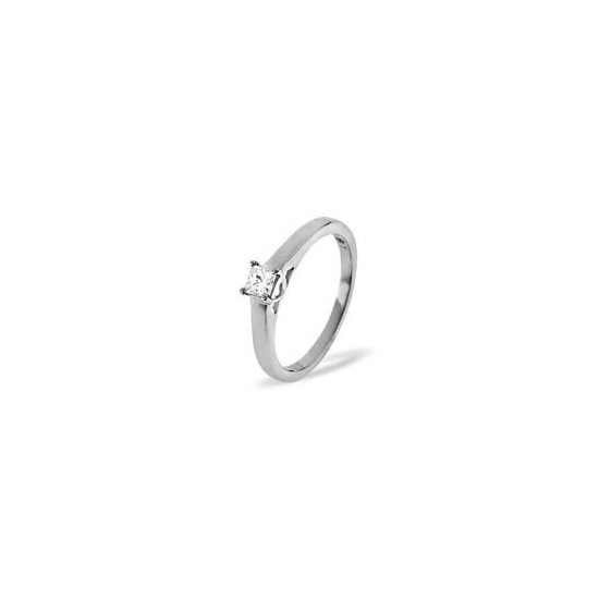 Lucy Platinum Diamond Solitaire Ring 0.33CT G