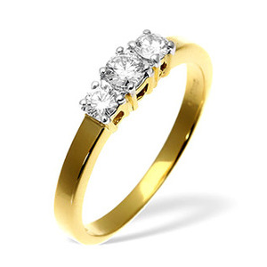 Photo of 18KY DIAMOND RING 0.50CT H/SI Jewellery Woman