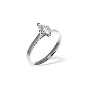 Photo of MARQUISE 18KW DIAMOND SOLITAIRE RING 0.25CT Jewellery Woman