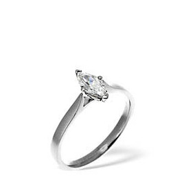 MARQUISE 18KW DIAMOND SOLITAIRE RING 0.50CT Reviews