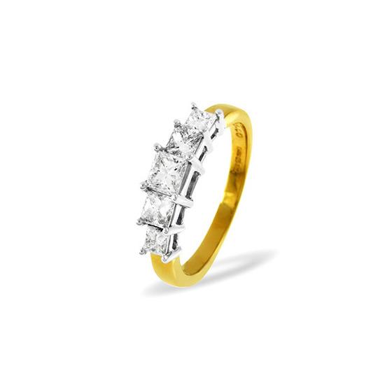 18KY DIAMOND RING 0.25CT H/SI