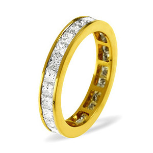 Photo of LAUREN 18KY DIAMOND FULL ETERNITY RING 0.50CT H/SI Jewellery Woman