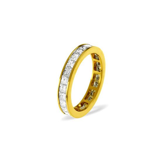 LAUREN 18KY DIAMOND FULL ETERNITY RING 0.50CT H/SI