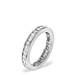 RAE PLATINUM DIAMOND FULL ETERNITY RING 0.50CT H/SI Reviews