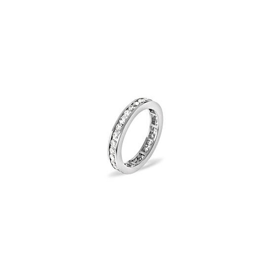 RAE PLATINUM DIAMOND FULL ETERNITY RING 0.50CT H/SI