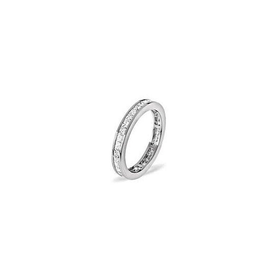 LAUREN 18KW DIAMOND FULL ETERNITY RING 1.00CT H/SI