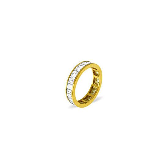 GRACE 18KY DIAMOND FULL ETERNITY RING 1.00CT H/SI