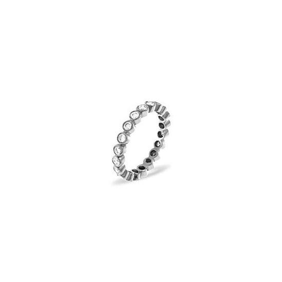 EMILY PLATINUM DIAMOND FULL ETERNITY RING 0.50CT G/VS