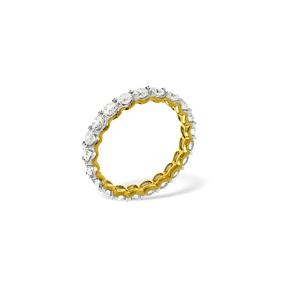 CHLOE 18KY DIAMOND FULL ETERNITY RING 1.00CT G/VS