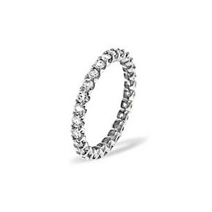 Photo of CHLOE PLATINUM DIAMOND FULL ETERNITY RING 1.00CT g/VS Jewellery Woman